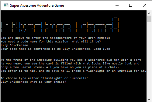 C# Adventure Game Introduction • Programming is Fun