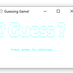 Numeric Guessing Game